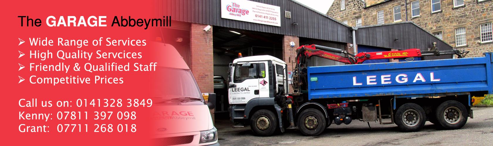 The GARAGE Abbeymill Paisley Renfrewshire Vehicles Services